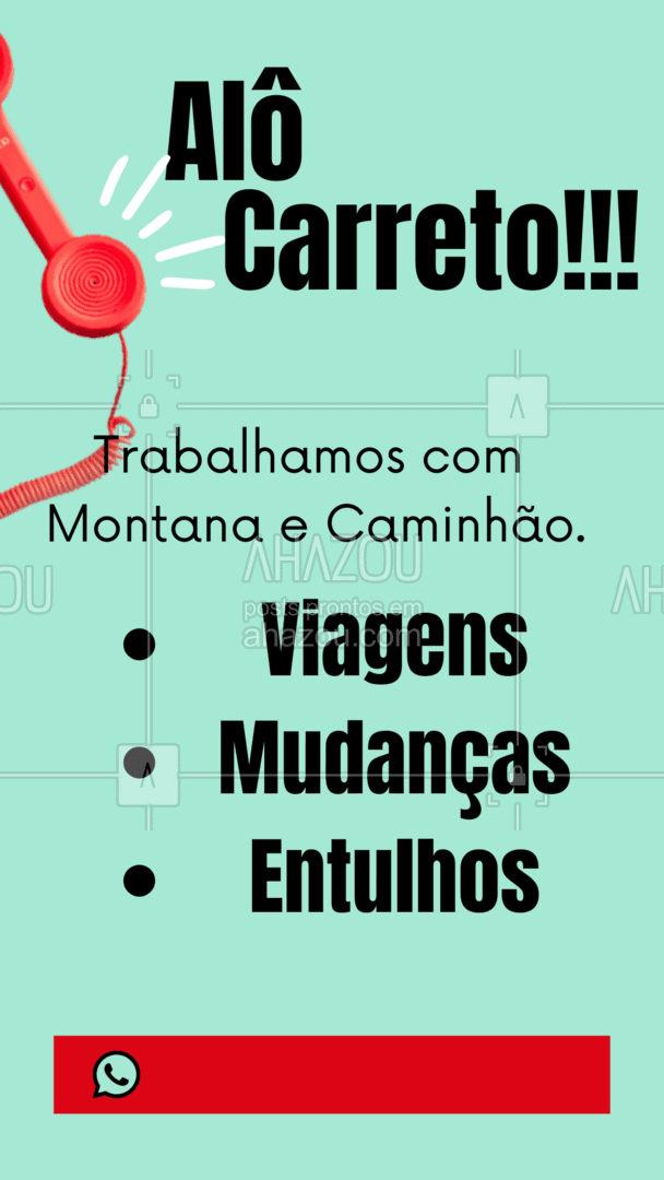 Rápidos e cuidadosos.  Chame a gente! ?  #AhazouServiços  #mudanca #transporte #viagens #carreto #frete