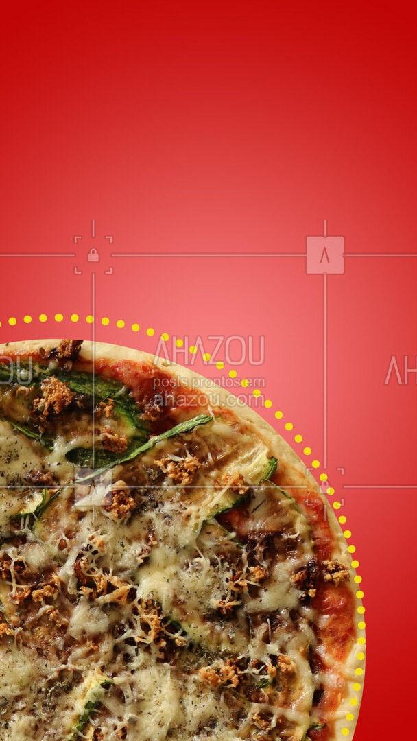 O nosso time não estava completo sem você. ?  #editaveisahz #ahazoutaste #pizza #vegetariana