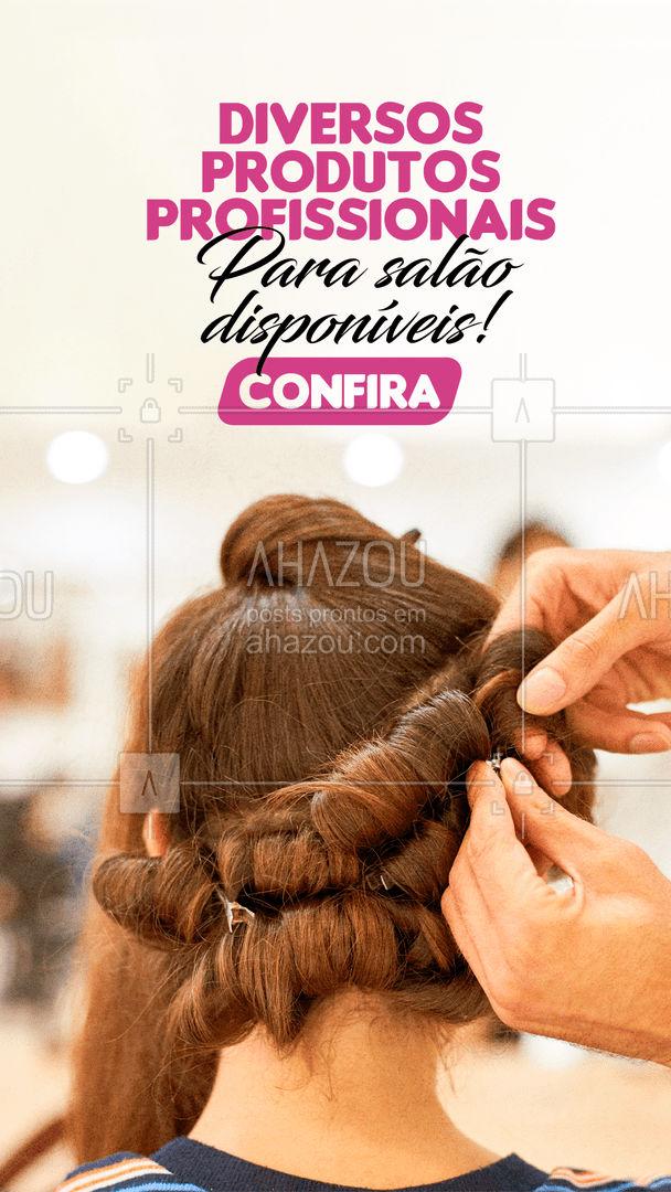 Confira a variedade em produtos profissionais disponíveis para o seu salão e faça seu pedido.  #revendadeprodutos #produtos #produtosdebeleza #AhazouRevenda #AhazouBeauty #beleza #catalogo #novidades