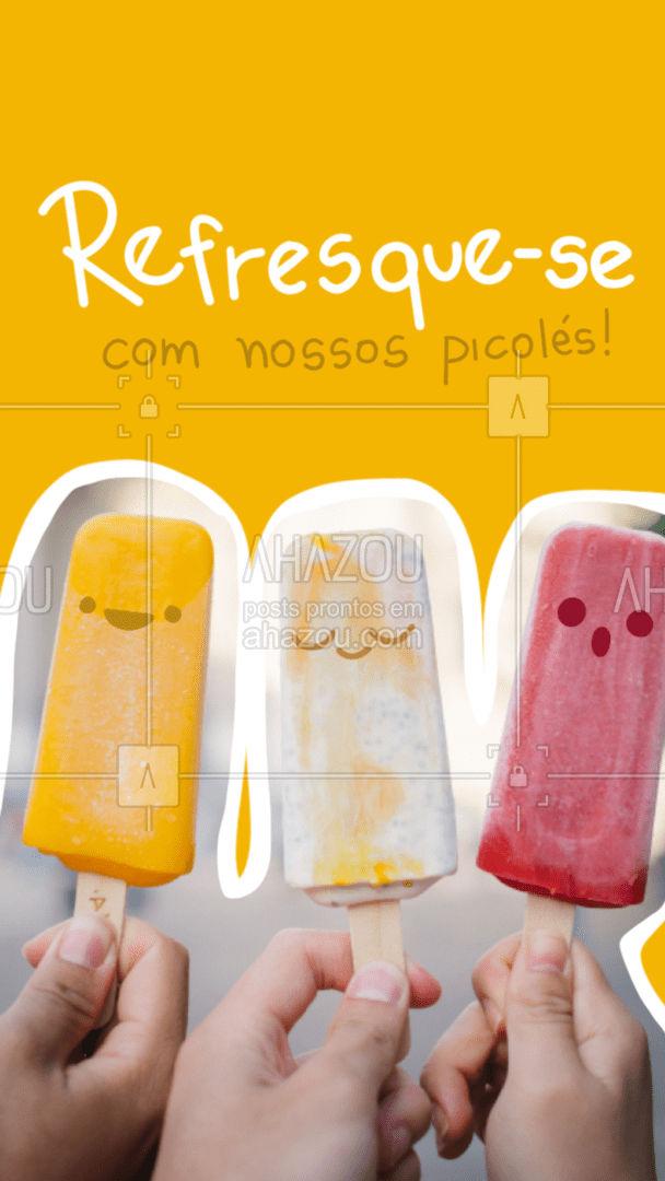 Não há nada melhor do que um picolé refrescante para acabar com o calor! #ahazoutaste #picole  #gelados #sorveteria #icecream