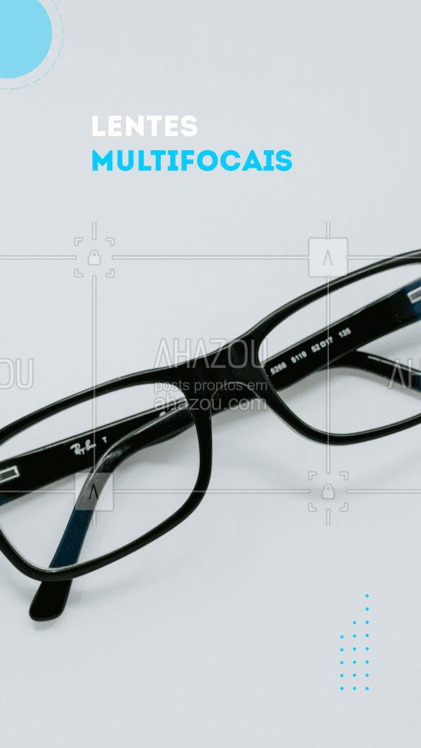 Esse tipo de lente tem a capacidade de unir múltiplos focos em um só lente possuindo três campos de visão (perto, médio e longe). Cada campo de visão pode conter um grau diferente, dependendo da necessidade de cada pessoa. Esse tipo de lente tem uma maior dificuldade de adaptação, devido a progressão, exigindo que o olho e o cérebro se ajustem a essa nova condição, normalmente o tempo de adaptação pode durar 7 dias. #lentes #lentemultifocal #AhazouÓticas #adaptaçao #oticas #oculos