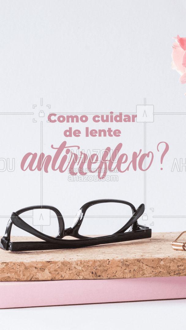 Cada vez mais as lentes antirreflexos ganham seu espaço no mercado, isso porque elas reduzem os reflexos de luz nas lentes dos óculos. Com ela você enxerga tudo de forma muito mais clara! E com isso surge a dúvida, como cuidar das minhas lentes antirreflexo? Confira nossas dicas que te contamos tudo!  #carrosselahz #AhazouÓticas #oculosantirreflexos #óculos #cuidadoscomosóculos #lentesantirreflexo #antirreflexo