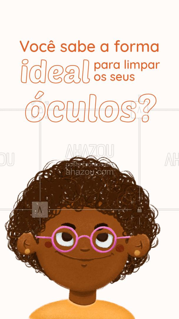 Confira essas dicas e saiba a melhor forma de higienizar os seus óculos, arrastando para o lado. #Dicas #AhazouÓticas #Óculos