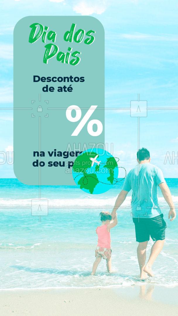 Aproveite nossos descontos imperdíveis, e garanta a melhor viagem para seu pai! Afinal ele merece esse presente especial! #viagens #agentedeviagens #viageminternacional #AhazouTravel #viajar #viagem #trip #agenciadeviagens #diadospais #pai #promoçao #desconto