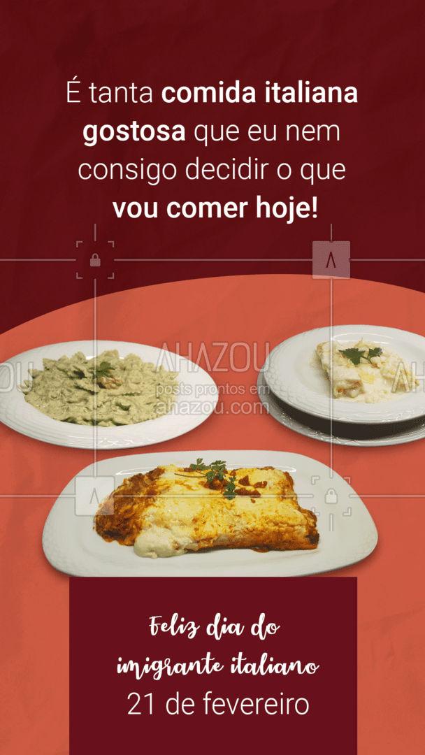 Com tanta coisa gostosa assim, a gente fica até na dúvida! Obrigada por fazer parte da nossa história! #ahazoutaste  #italianfood #italy #cozinhaitaliana