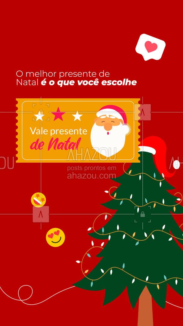 Com o nosso vale presente de Natal não tem erro, esse é o presente perfeito! ?❤️ Entre em contato conosco e garanta já o seu! ? (XX) XXXXX-XXXX #valepresente #presente #natal #ahazou #promocao #fimdeano