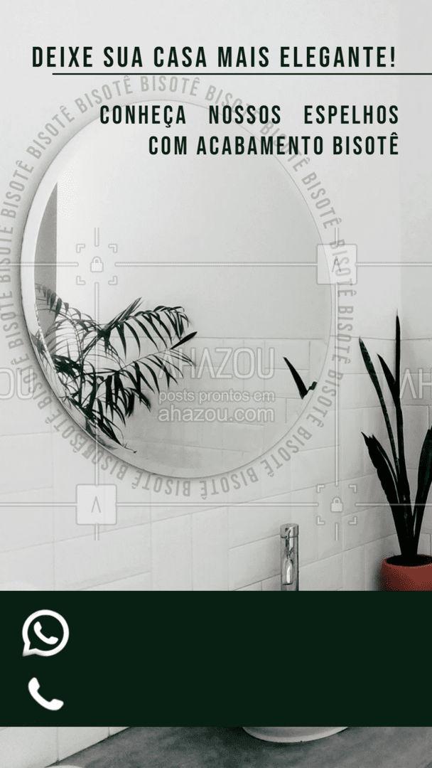 Clássico e elegante o espelho com acabamento bisotê, vai deixar sua casa ainda mais bonita e sofisticada. Entre em contato e faça um orçamento #espelho #acabamentobisote #AhazouVidraçaria #bisotê #vidraçaria