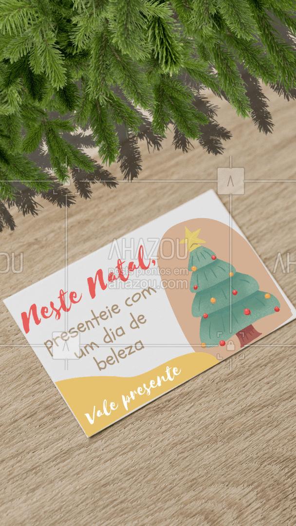 Existe presente mais incrível do que esse? ? São vários procedimentos para você escolher! Fica a dica para arrasar no presente de Natal ???  #natal #fimdeano #promocao #AhazouBeauty #valepresente #beleza #presente