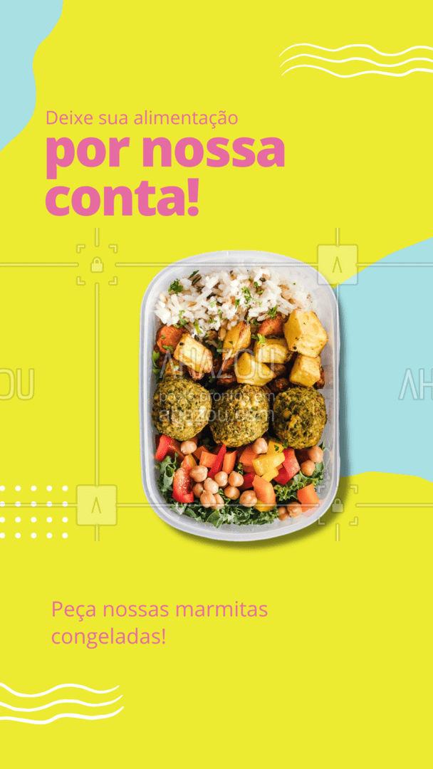 Organize sua semana com nossas refeições congeladas!  - Praticidade; - Sabor; - Qualidade!  Peça já! #ahazoutaste #marmitacongelada  #marmitex #marmitando #comidadeverdade #marmitas