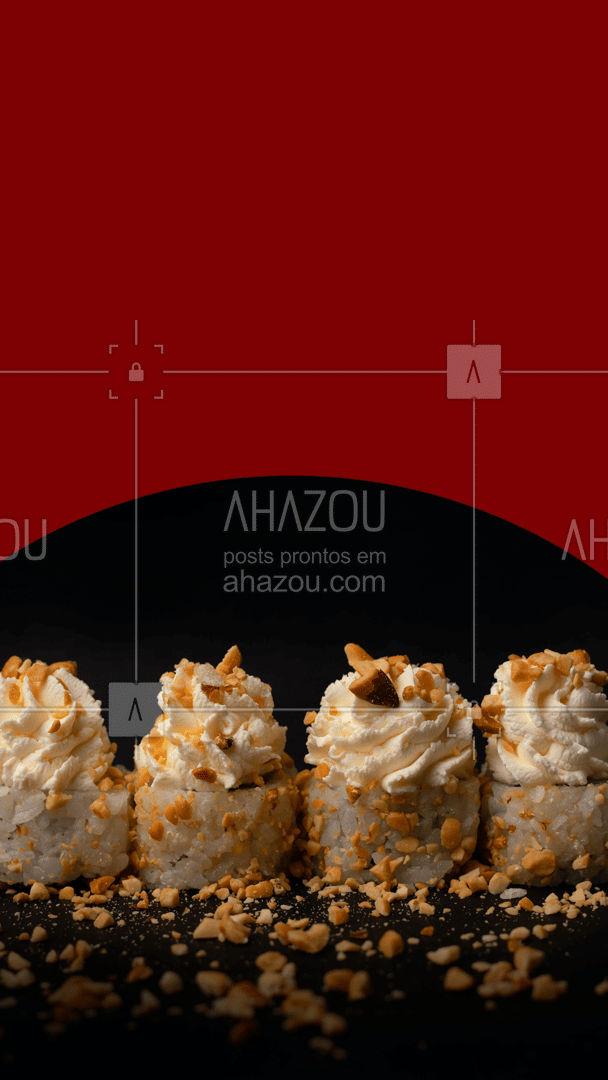 Com essa promoção você garante até a sobremesa: hot roll doce. 🤤🤤  #ahazoutaste #combo #hotroll #hotrollsalgado #hotrolldoce #promocao