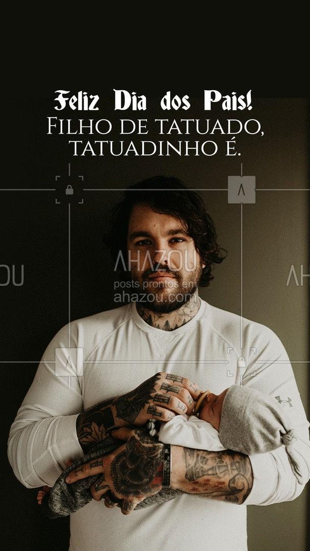 Amor registrado na pele e no coração! Feliz Dia dos Paiz. #AhazouInk #diadospais #tuagem #tattoo