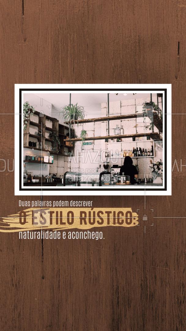 A decoração rústica é inspirada em casas de campo. A madeira, antiga ou de demolição, é o elemento de destaque nos móveis, vigas aparentes e pisos.  #AhazouDecora #AhazouArquitetura  #homedecor #arquiteto #arquitetura #decoracao