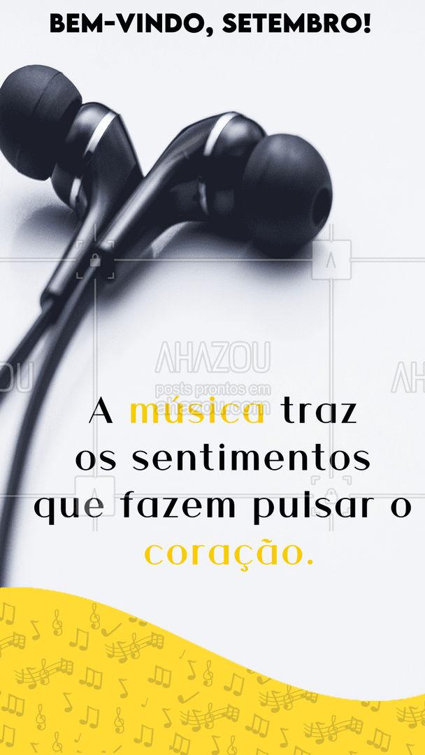 Nesse mês, deixe o seu coração mais feliz com uma boa música! 😍 #musica #setembro #AhazouEdu #instrumentos  #aulademusica  #aprendamúsica