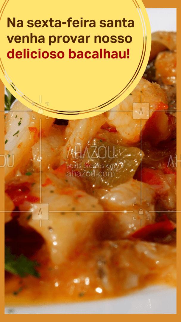 Nessa sexta-feira santa venha provar nosso delicioso bacalhau ou peça pelo delivery! #restaurante #alacarte #foodlovers #selfservice #ahazoutaste #sextafeirasanta #refeiça #almoço #jantar