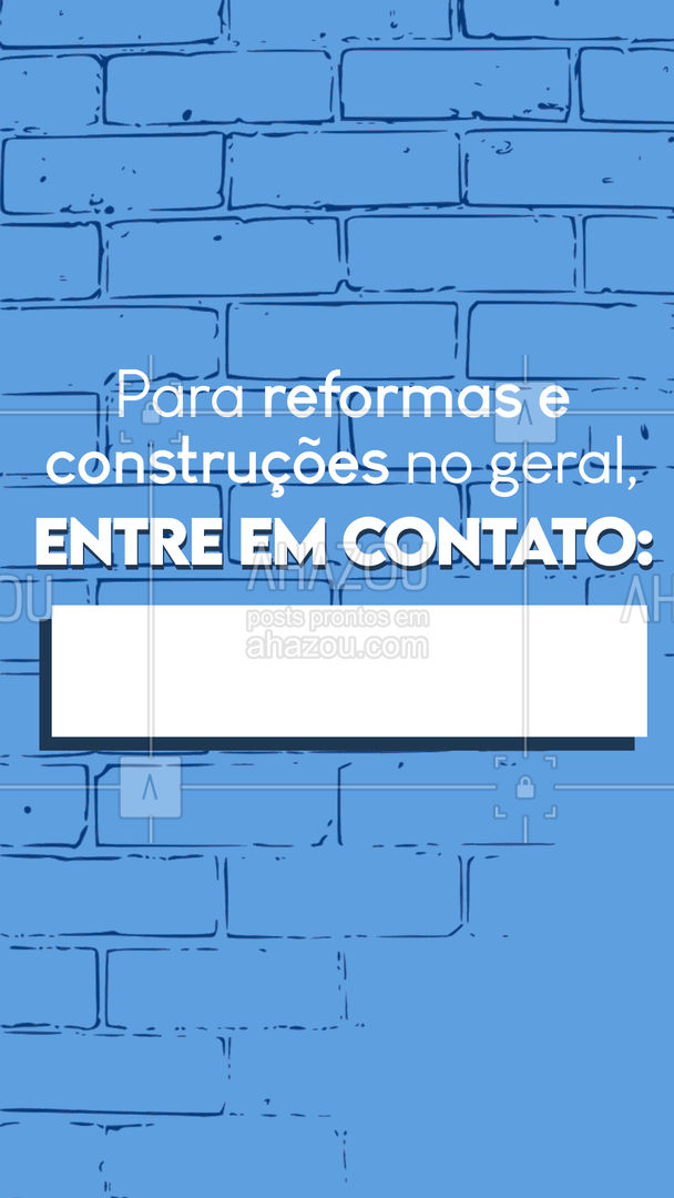 Se procura alguém para fazer reformas e construções no geral entre em contato por: (colocar aqui os meios de contato). #pedreiro #AhazouServiços #comunicado #editavel #serviços