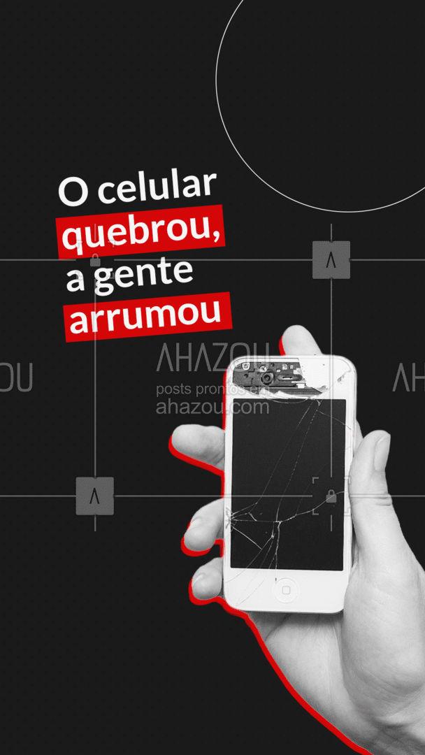 Celular quebrado? Traz pra gente que arrumamos rapidinho, não importa a marca. ? #AhazouTec #AhazouTec #AhazouTec #eletrônicos #AssistenciaTecnica #AhazouTec