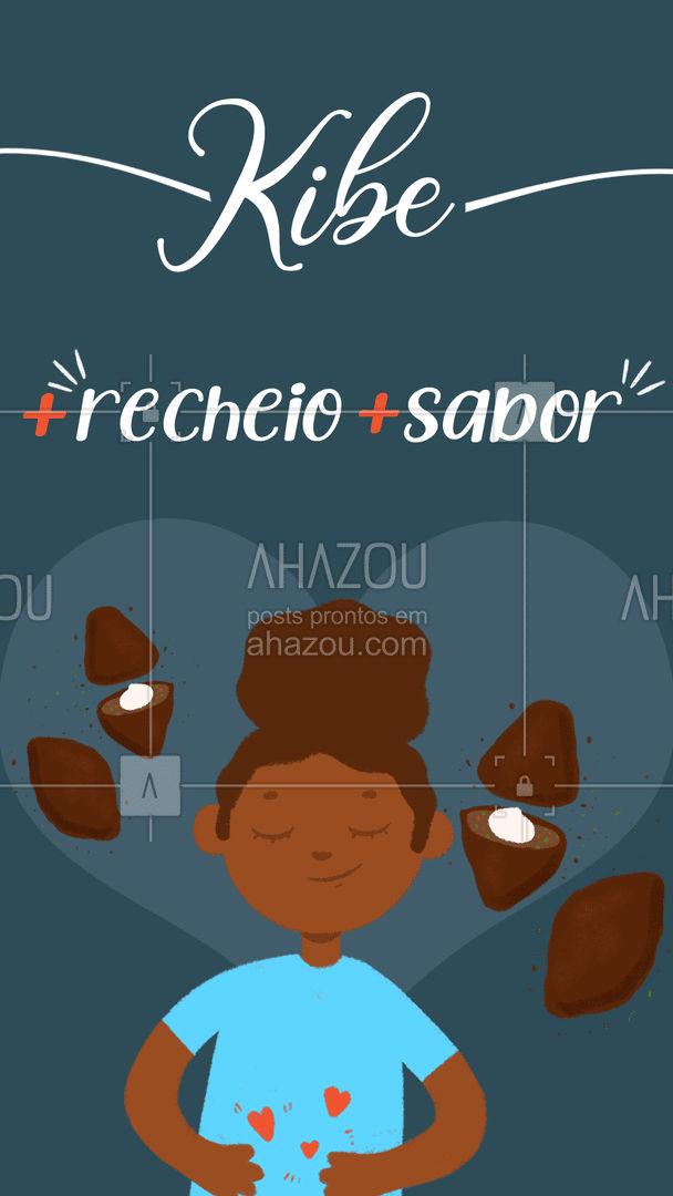 O melhor da região! Encomende os seus! #kibe #salgado #ahazoutaste #foodlovers #salgados