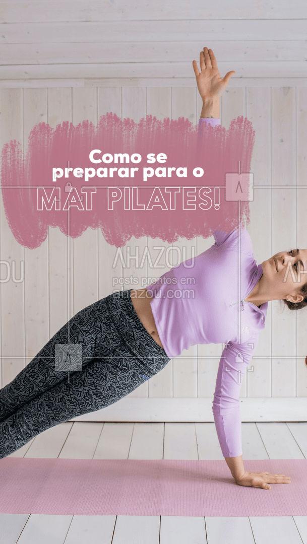 É preciso estar com roupas leves e confortáveis, também é muito importante ter a orientação de um educador físico para ajudá-lo a realizar os movimentos corretos. #AhazouSaude #pilatesbody #pilates #fitness #workout #pilateslovers #matpilates