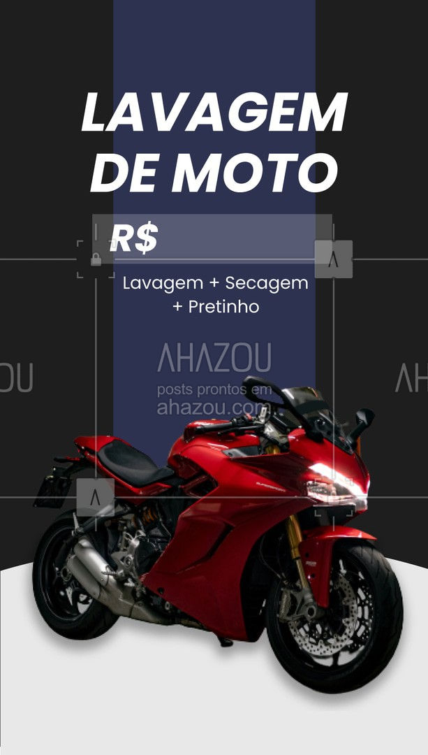 Sua moto limpinha na hora! Estamos no endereço: ?(preencher) #AhazouAuto  #esteticaautomotiva #automotivos #moto #lavagemdemoto