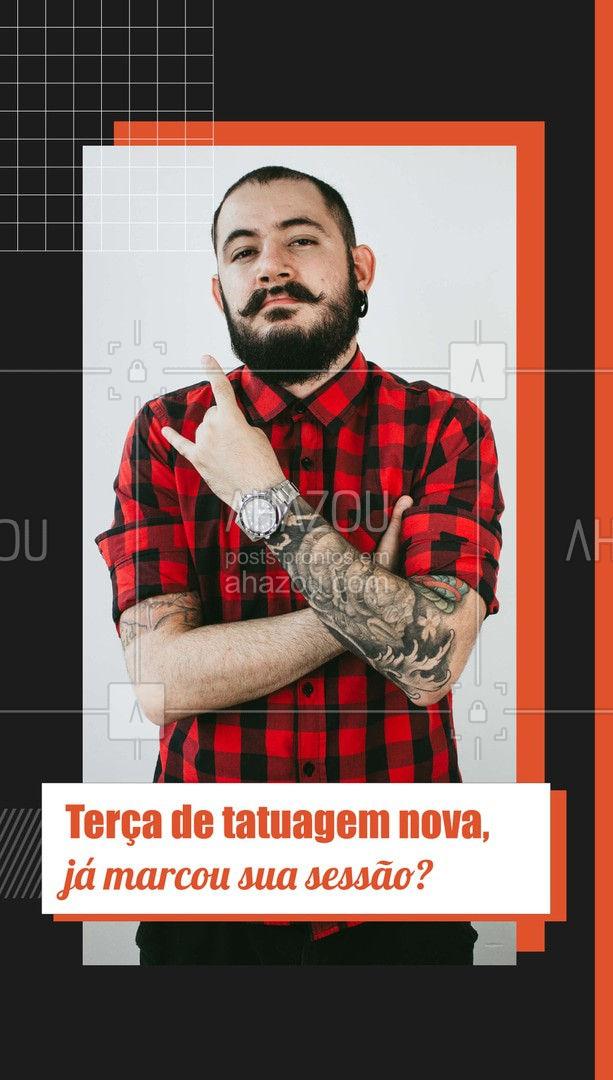 Terça-feira é dia de tatuagem nova, um ótimo dia para poder fazer aquela tatuagem que você tanto quer. ☠️? #AhazouInk #tattoo #tattooink #tattoobrasil #studiotattoo #AhazouInk