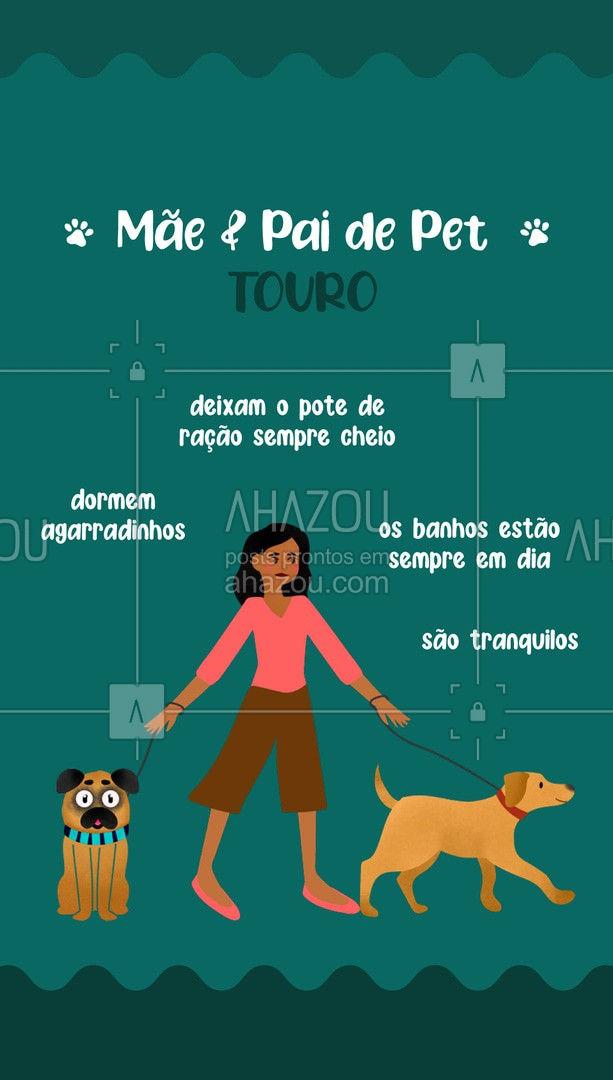 Eles são conhecidos por apreciarem o melhor da vida, por isso seus pets terão de tudo. ♉ Tem algum pai ou mãe de pet taurino por aí? ?  #PaidePet #MãedePet #Signos #AhazouPet #Pet #AnimaisdeEstimação #Touro #SignodeTouro