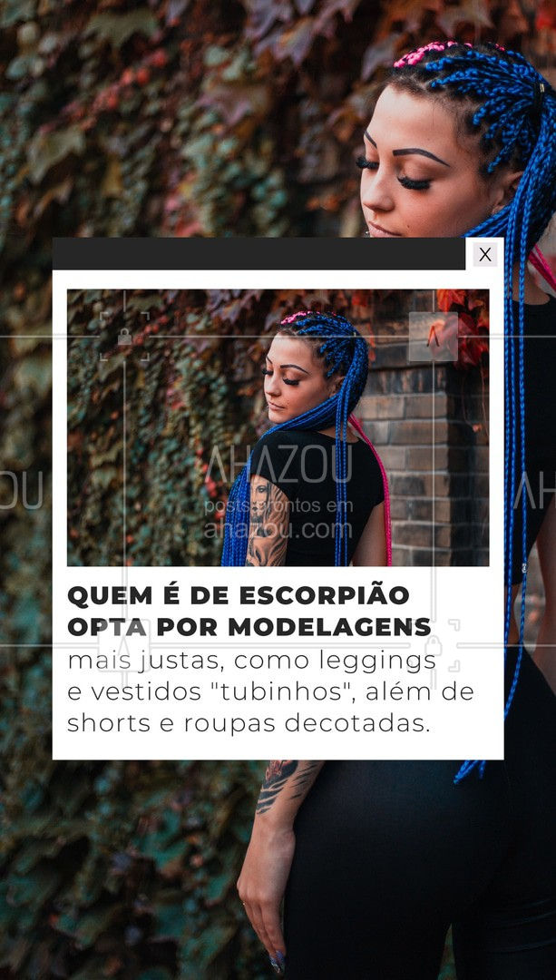 Se for pra sair de casa sem chamar a atenção eu nem saio, não é mesmo? #AhazouFashion #ModaEscorpiana #lookdodia #fashion #OOTD #style #moda #outfit