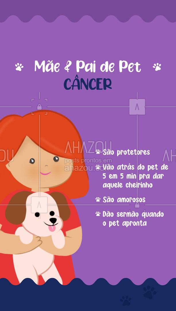 Amor e muito carinho é o mínimo quando se trata dos pais e mães de pet cancerianos, não é mesmo?  ♋?  ##PaidePet #MãedePet #Signos #AhazouPet #Pet #AnimaisdeEstimação #Câncer #SignodeCâncer