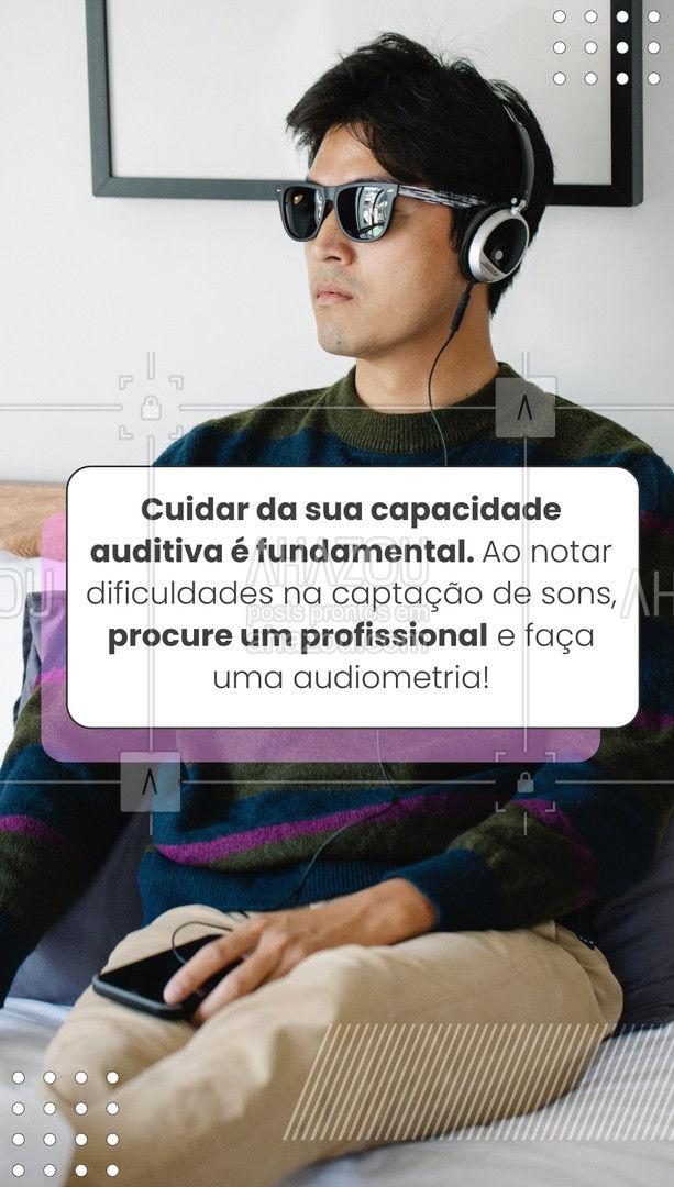 O melhor tratamento é sempre a prevenção, por isso, fique atento aos sinais da sua saúde auditiva! ?  #audiometria #audicao #AhazouSaude  #fonoaudiologia #fono #saude #bemestar