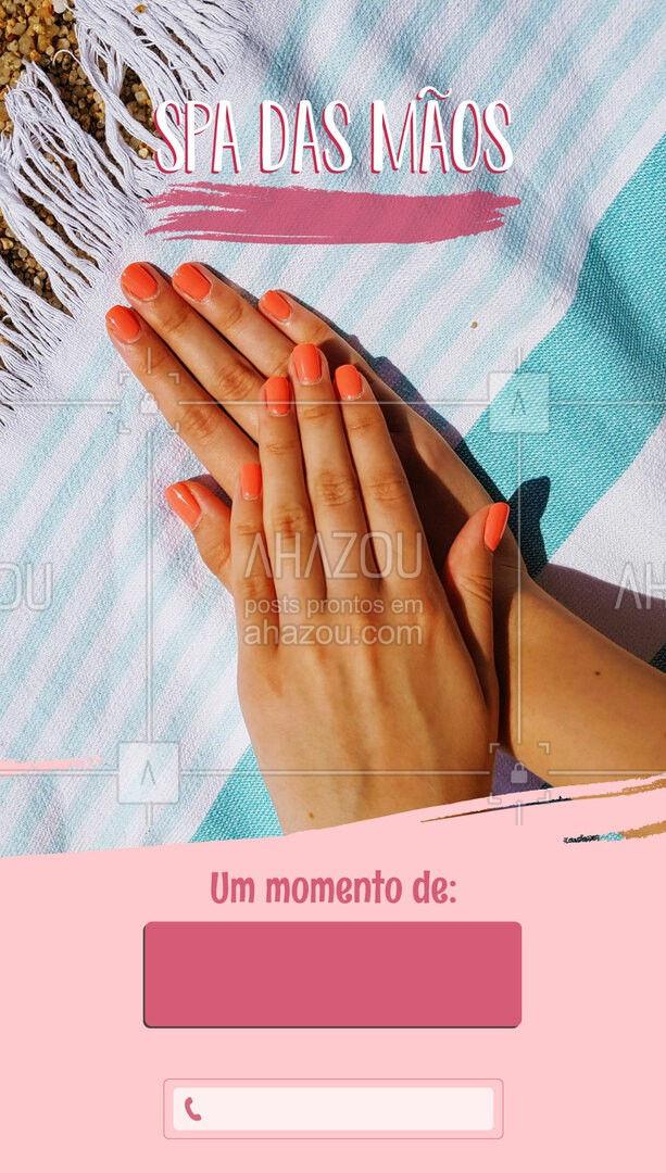 O Spa das Mãos é uma ótima opção para o rejuvenescimento das unhas e para quem tem excesso de cutículas.  Agende o seu horário.   #manicure #SpaDasMãos #beleza #beauty #AhazouBeauty  #nailart #unhas