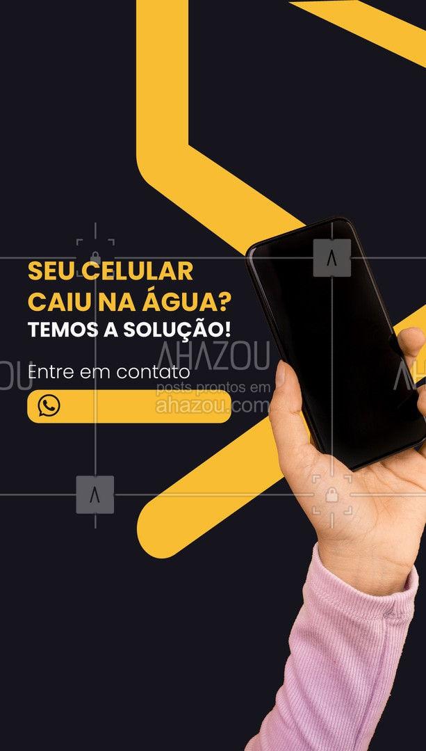 O celular caiu na água, e agora? Fique tranquilo, traga seu aparelho aqui! Entre em contato com a gente: (xx) xxxx-xxxx #AhazouTec   #assistentetecnico #celular #assistencia #AssistenciaCelular #tecnologia #eletrônicos #celulares #caiunaágua #solução #entreemcontato
