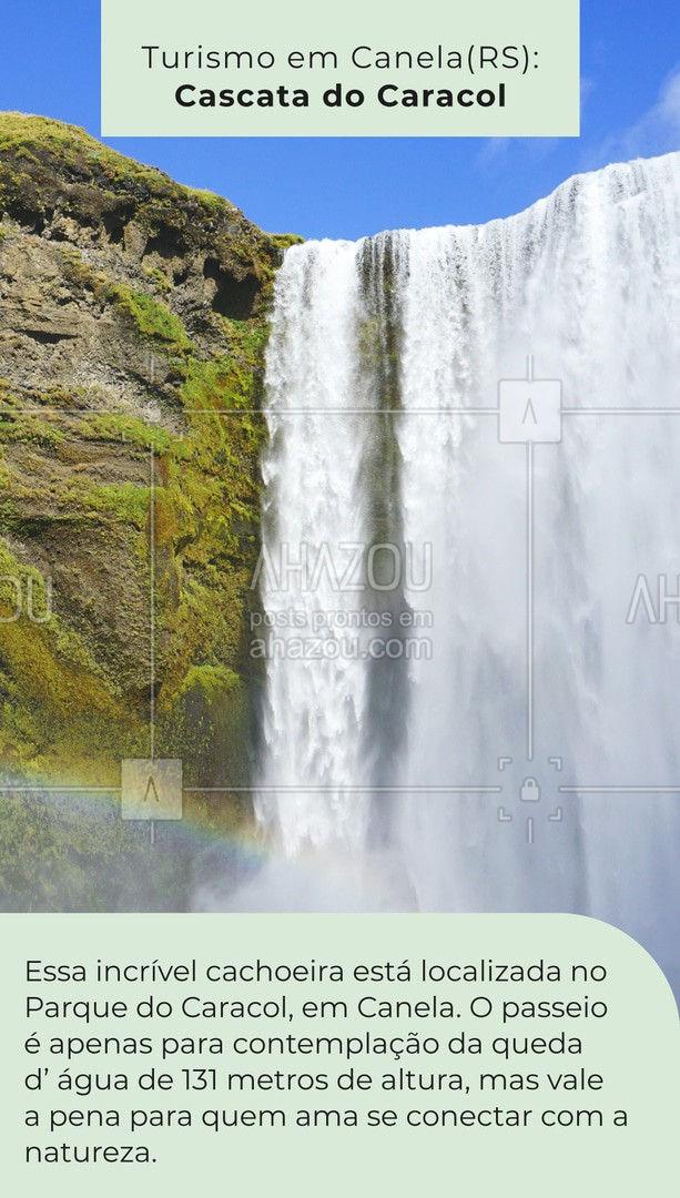 O Parque do Caracol não decepciona quem o visita a procura de um contato com a natureza, possui inúmeras cachoeiras e atrações que permitem um maior contato e apreciação da natureza! #turismo #viagem #AhazouTravel #viagempelobrasil #agenciadeviagens #cachoeira #AhazouTravel