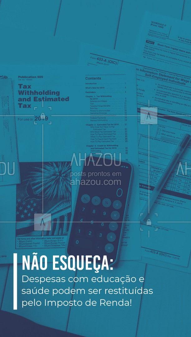 A data limite de entrega da Declaração é 30 de abril de 2021.  #ahazou #impostoderenda