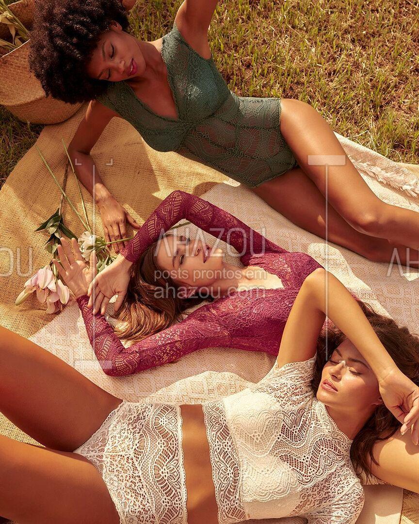 O melhor da renda & modelagens incríveis, juntas em uma nova coleção ainda mais especial. #ahazouvalisere #ahazourevenda