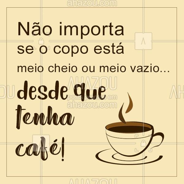 Quem concorda? Se tiver café, tá tudo perfeito! ❤️☕️ #cafe #ahazou #cafeteria