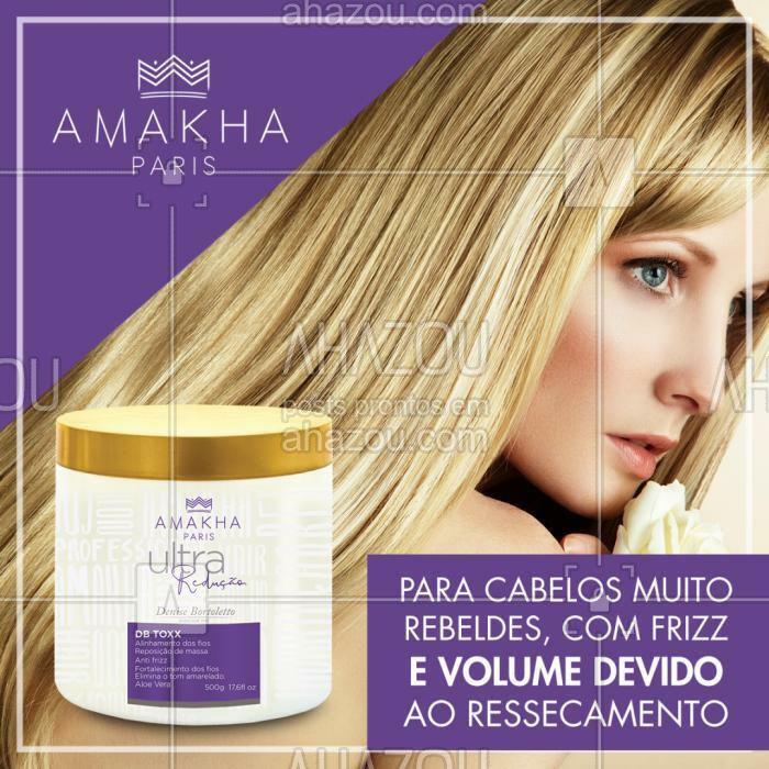 DB Toxx Nano Organic PURPLE - Denise Bortoletto ?⠀ ⠀ Alinhamento de fios foi desenvolvido para atender as necessidades de cabelos frágeis e danificados, contendo em sua composição ativos que recuperam a fibra capilar e alinham os fios.⠀  ⠀ #AmakhaParis #DBTOXX #AmakhaOficial  #AhazouAmakha #AmakhaCosmeticos