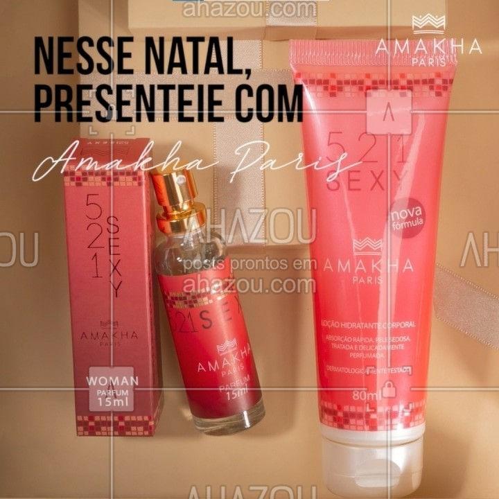 Aproveite o final de ano e compre presentes para você também! A fragrância floral oriental 521 Sexy você encontra nas versões de perfume com 15ml e o hidratante corporal. Essa combinação possibilita uma pele macia, bem cuidada e muito perfumada. E para combinar um lindo batom! Sinta-se especial com Amakha Paris.⠀ ⠀ #amakhaparis #amakha #amakhacosmeticos #beleza #brilho #tendencia #sofisticação #realce #glamour #estilo #natal #presente #amakhaoficial #perfume #hidratante #fragrancia #ahazourevenda #ahazouamakha