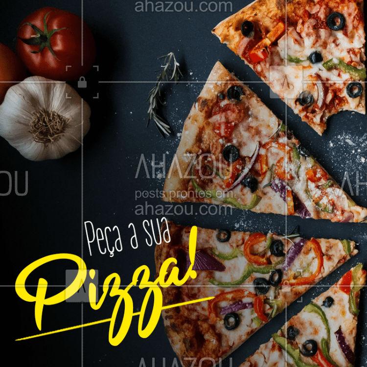 Você não precisa sair de casa para comer aquela pizza deliciosa! Peça pelo delivery e se delicie no conforto da sua casa ;) #pizzaria #pizzas #delivery #ahazou #bandbeauty