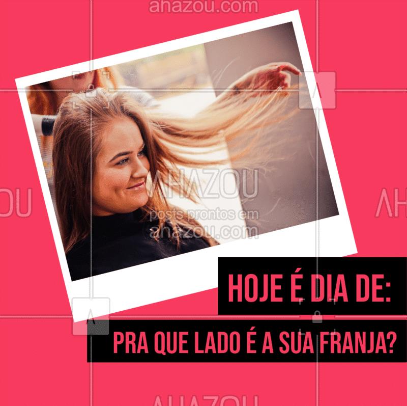 Ahhh eu amo! Vem pra cá dar aquela renovada no visual ?? #cabelo #ahazou #cabeleireiro