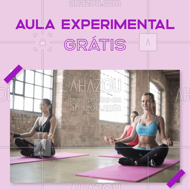 Aqui no studio oferecemos uma aula para pessoas que querem vir conhecer nossas práticas e modalidades da Yoga e PIlates! ✌? Basta entrar em contato com a gente e agendar a sua aula! #yoga #pilates #aulaexperimental #ahazousaude #saude #bemestar #exercicios
