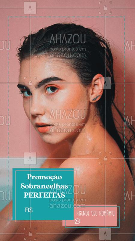 Aproveite nossa super promoção para ficar com as sobrancelhas perfeitas!  Agende seu horário.   #sobrancelhas #sobrancelhasperfeitas #DesignDeSobrancelhas #ahazoubeauty #beleza #promoção