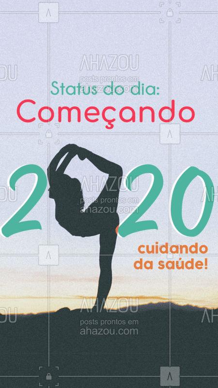 Quem já começou a nova década cuidando da saúde? ? #anonovo #felizanonovo #saude #ahazou #bemestar #novadecada #2020
