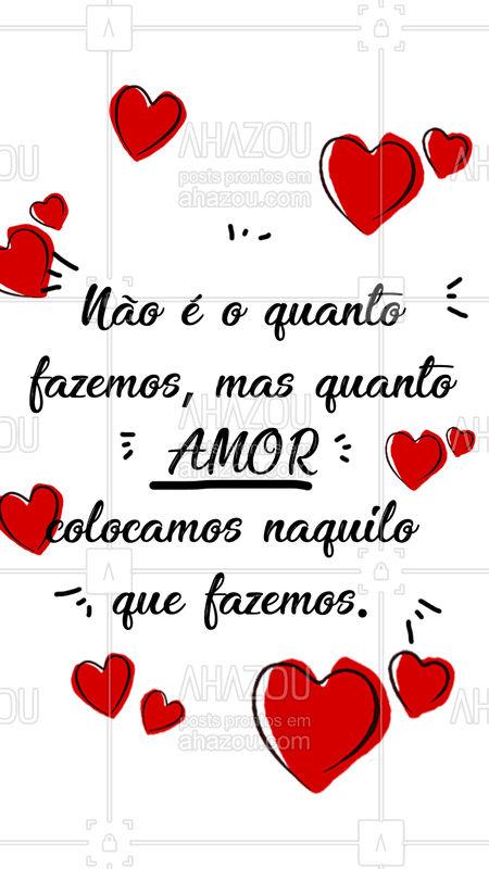 Trabalhar com amor é tudo! ❤️ #amor #ahazou #beleza #trabalho #profissao
