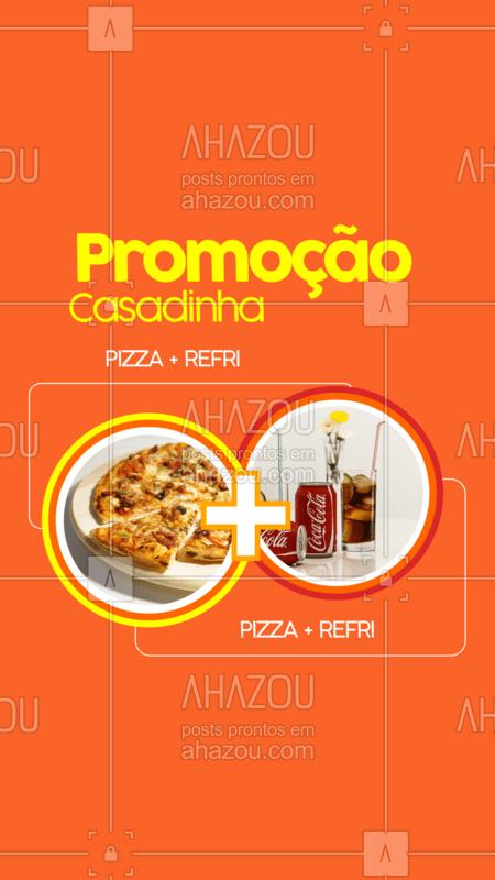 Vamos de promoção? ? Aproveite nossa promo casadinha: pizza + refri por apenas XXX  #pizzaria #ahazoutaste #pizza #refrigerante