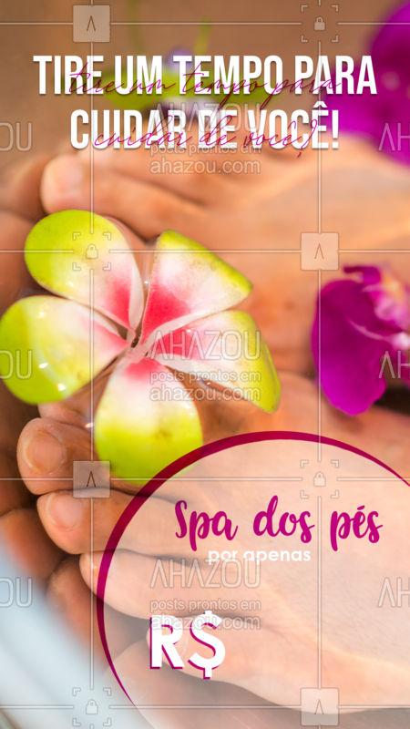 Alivie o estresse e dê o descanso merecido para seus pés! Confira os horários disponíveis e marque o seu.  ?? #podologa  #spadospes #pessaudaveis #ahazou