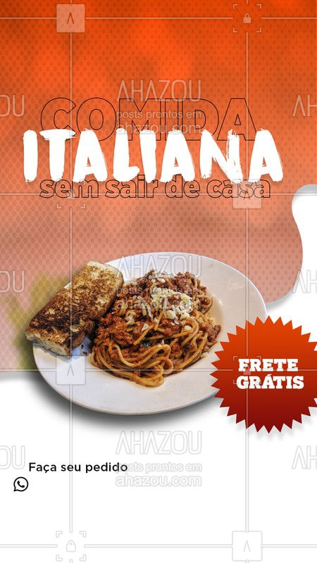 ??  Prove a maravilhosa comida italiana sem sair de casa. Faça o seu pedido. O frete é grátis.   #comidaitaliana #delivery #lasanha #italia  #Ahazoutaste