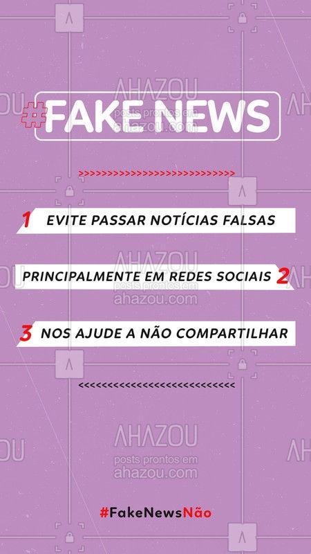 É hora da gente se conscientizar com a não propagação de FAKE NEWS, várias informações sobre o coronavírus estão sendo espalhadas e com isso as pessoas estão bem apavoradas! Evite Fake News #NoticiaFake #Ahazou #FakeNews