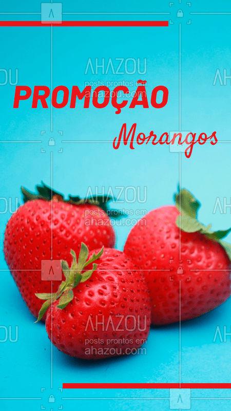 Aproveite a promoção especial dos morangos! Hmmm ? #morango #ahazou #promoção #feira #fruta #frutaria