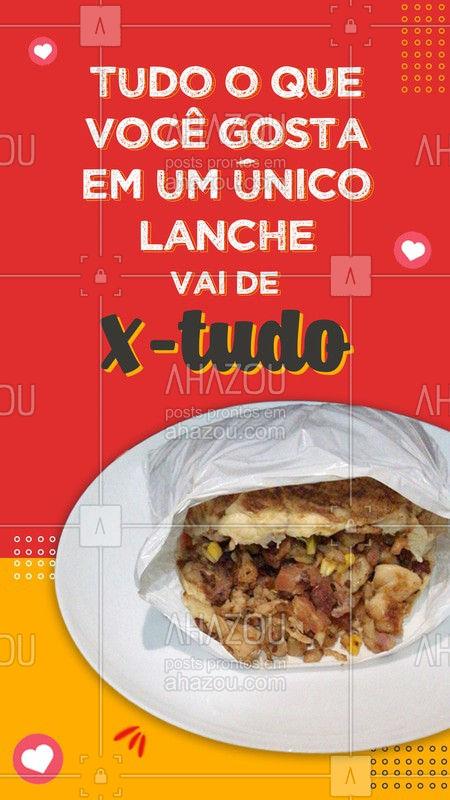 Para uma melhor degustação do X-tudo, pede no delivery. ? #ahazoutaste #x-tudo #burger #instafood #ilovefood