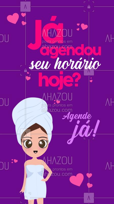 Venha ficar mais linda! ?? Agende seu horário. ⏰ #beleza #ahazou #horario