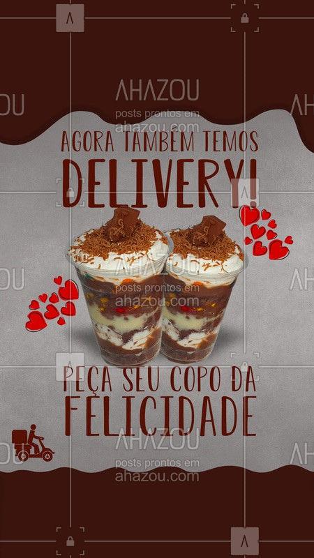 Estamos atendendo por delivery! Peça seu copo da felicidade no nosso whats e entregamos na sua casa! Você com certeza não vai se arrepender! Estamos esperando seu pedido!  ??    #ahazoutaste #potes #copoDaFelicidade #felicidade #delivery #docinhos  #confeitaria #delivery